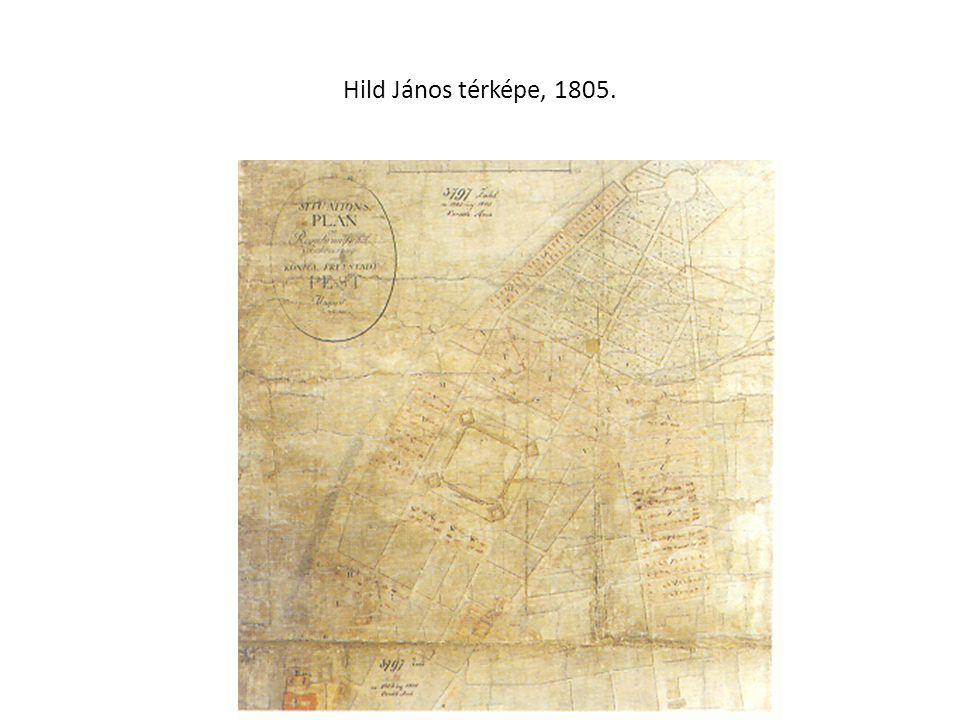 Hild János térképe, 1805.