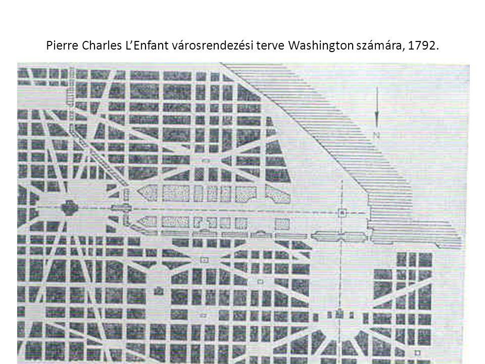 Pierre Charles L'Enfant városrendezési terve Washington számára, 1792.