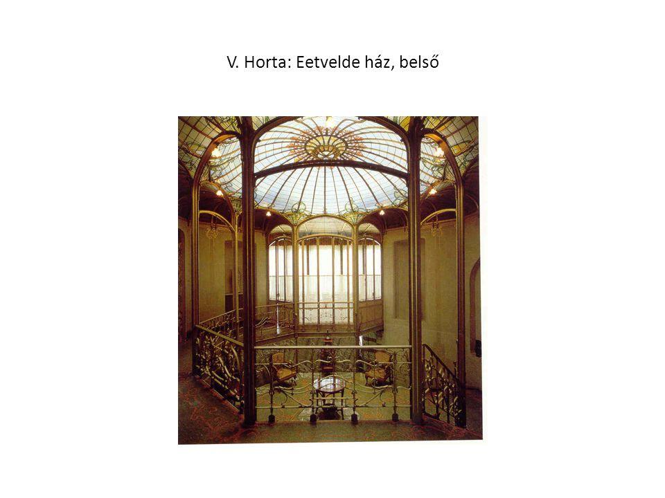 V. Horta: Eetvelde ház, belső