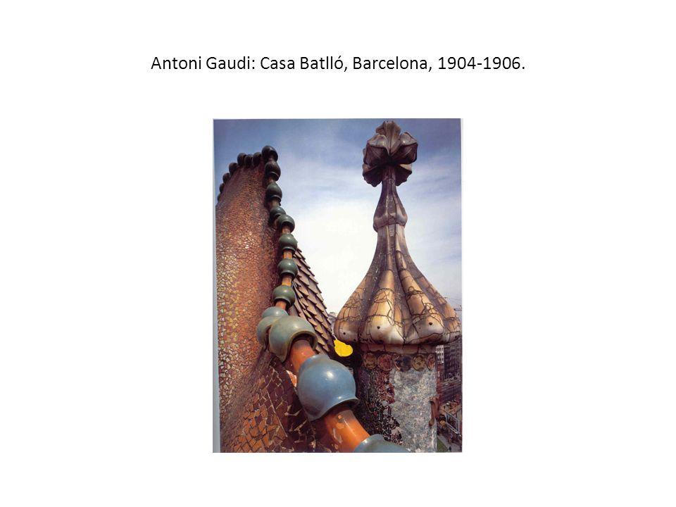 Antoni Gaudi: Casa Batlló, Barcelona, 1904-1906.