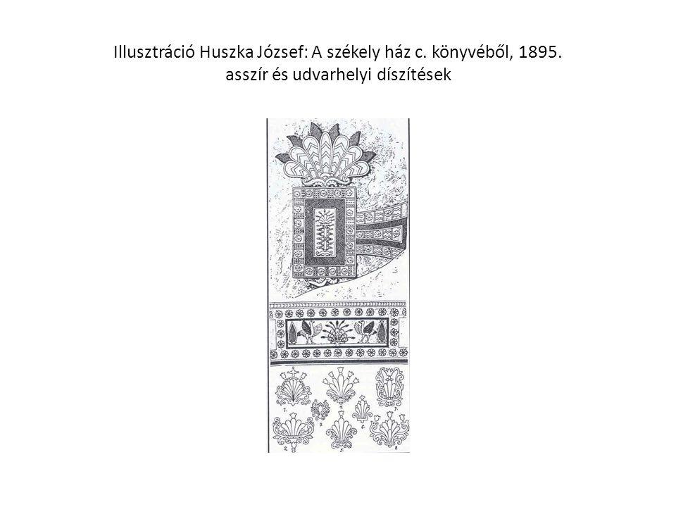 Illusztráció Huszka József: A székely ház c. könyvéből, 1895. asszír és udvarhelyi díszítések