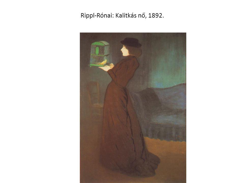 Rippl-Rónai: Kalitkás nő, 1892.