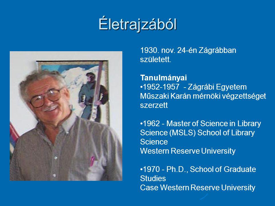Életrajzából 1930. nov. 24-én Zágrábban született. Tanulmányai 1952-1957 - Zágrábi Egyetem Műszaki Karán mérnöki végzettséget szerzett 1962 - Master o
