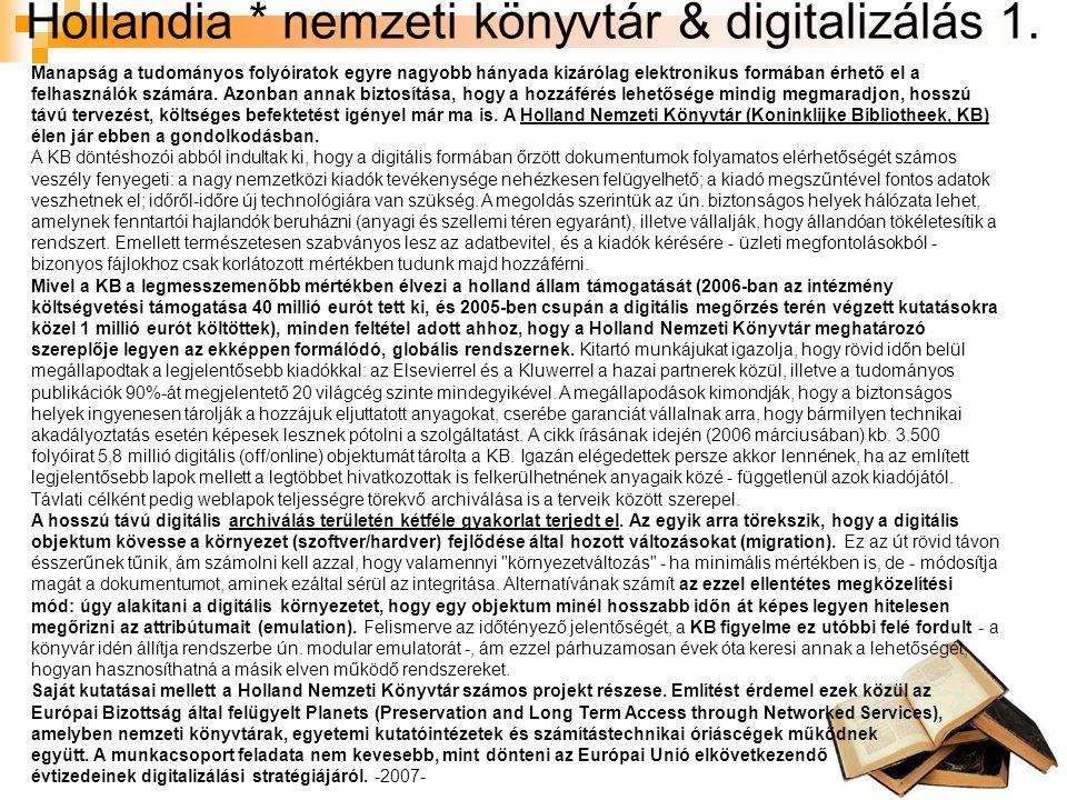 Hollandia * nemzeti könyvtár & digitalizálás 1.