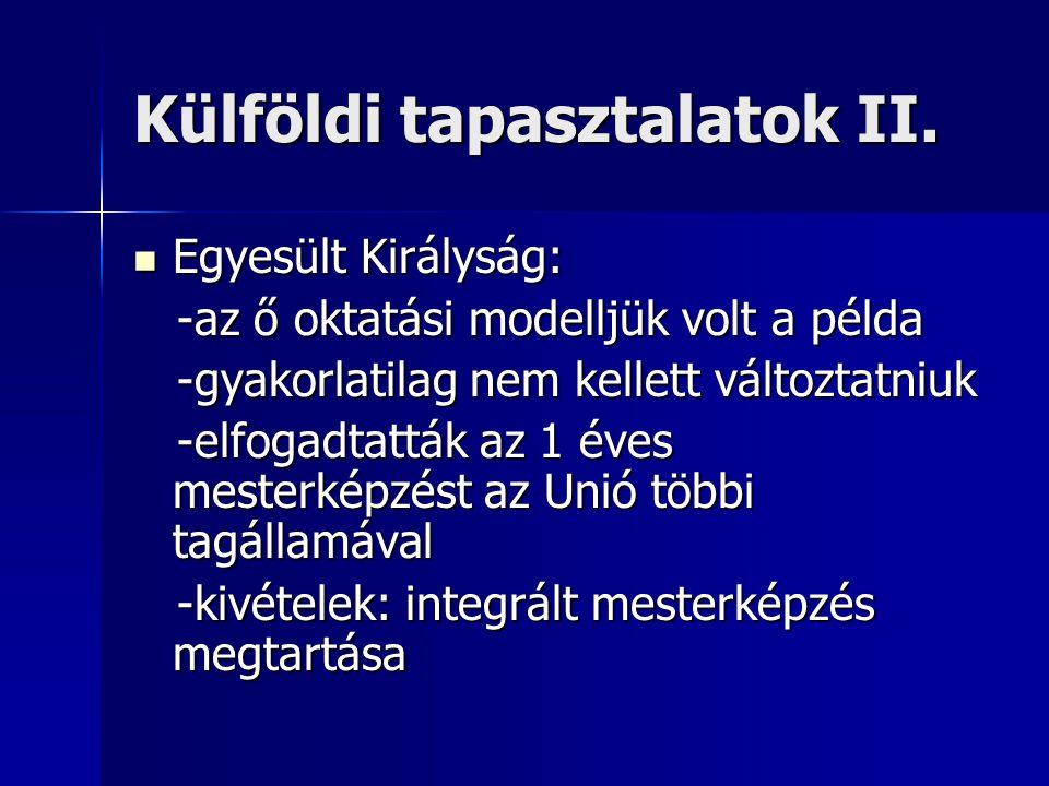 Külföldi tapasztalatok II.