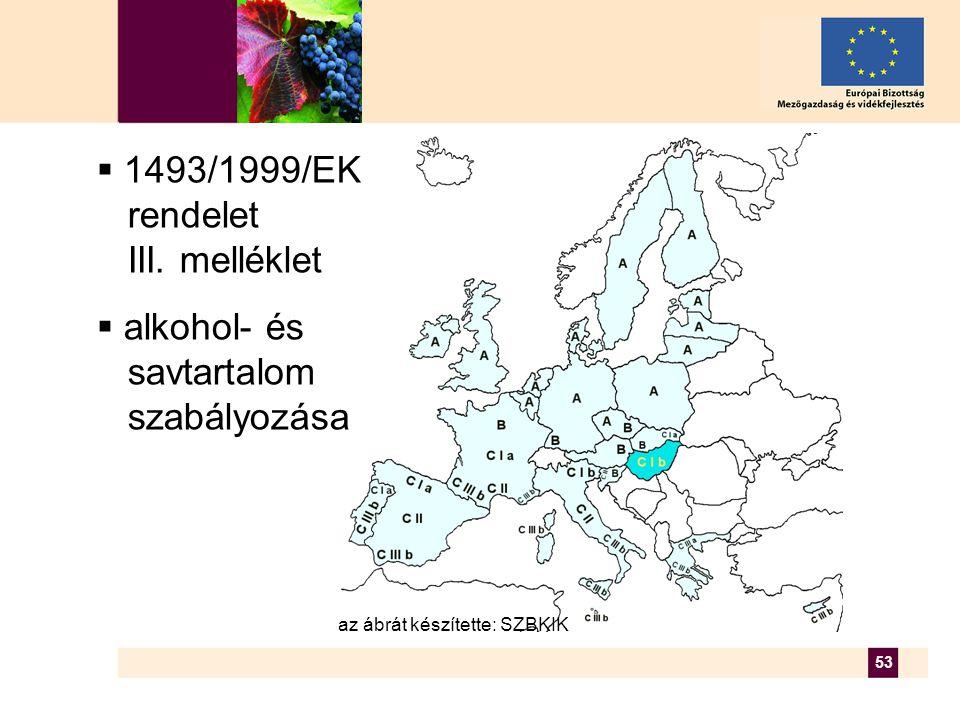 53  1493/1999/EK rendelet III.