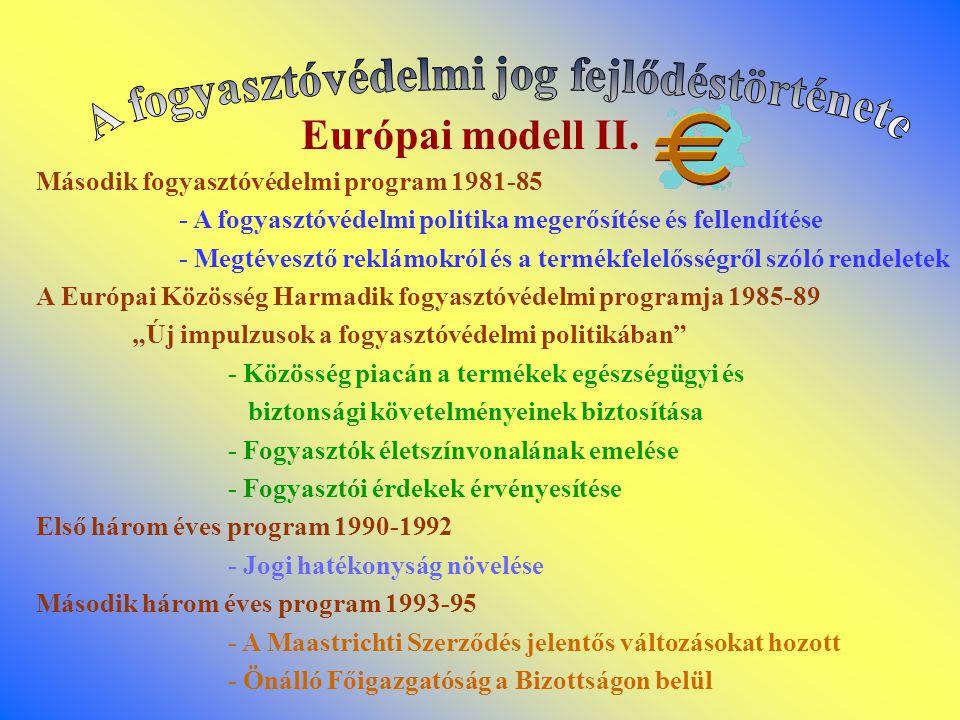 Európai modell II. Második fogyasztóvédelmi program 1981-85 - A fogyasztóvédelmi politika megerősítése és fellendítése - Megtévesztő reklámokról és a