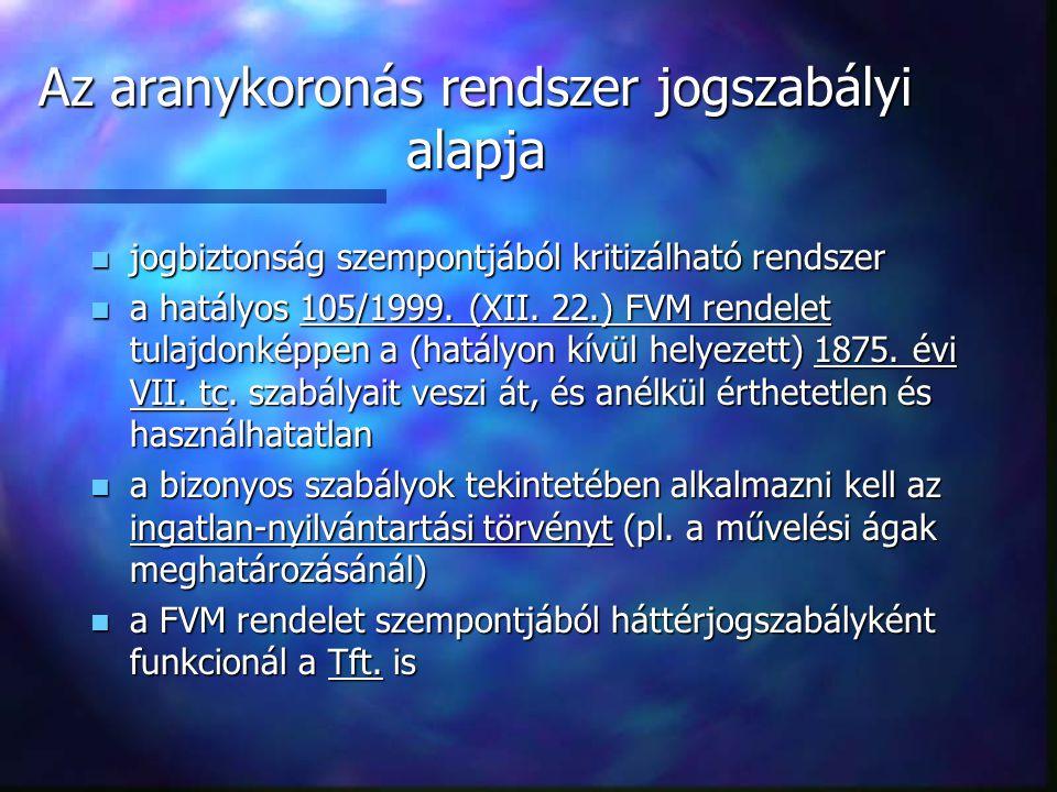 Következő előadás: n Földminősítés II. - pontozásos földértékelés.
