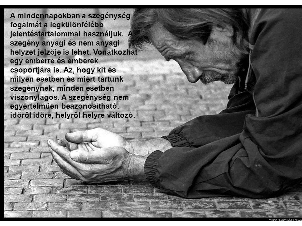 A mindennapokban a szegénység fogalmát a legkülönfélébb jelentéstartalommal használjuk. A szegény anyagi és nem anyagi helyzet jelzője is lehet. Vonat