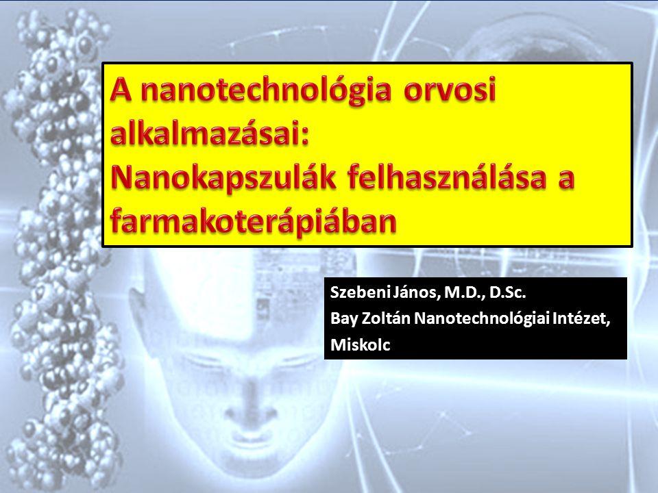 Szebeni János, M.D., D.Sc. Bay Zoltán Nanotechnológiai Intézet, Miskolc