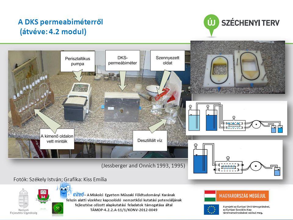 """""""A Miskolci Egyetemen működő tudományos képzési műhelyek összehangolt minőségi fejlesztése TÁMOP-4.2.2/B-10/1-2010-0008 KÚTFŐ KÚTFŐ – A Miskolci Egyetem Műszaki Földtudományi Karának felszín alatti vizekhez kapcsolódó nemzetközi kutatási potenciáljának fejlesztése célzott alapkutatási feladatok támogatása által TÁMOP-4.2.2.A-11/1/KONV-2012-0049 A DKS permeabiméterről (átvéve: 4.2 modul) (Jessberger and Onnich 1993, 1995) Fotók: Székely István; Grafika: Kiss Emília"""