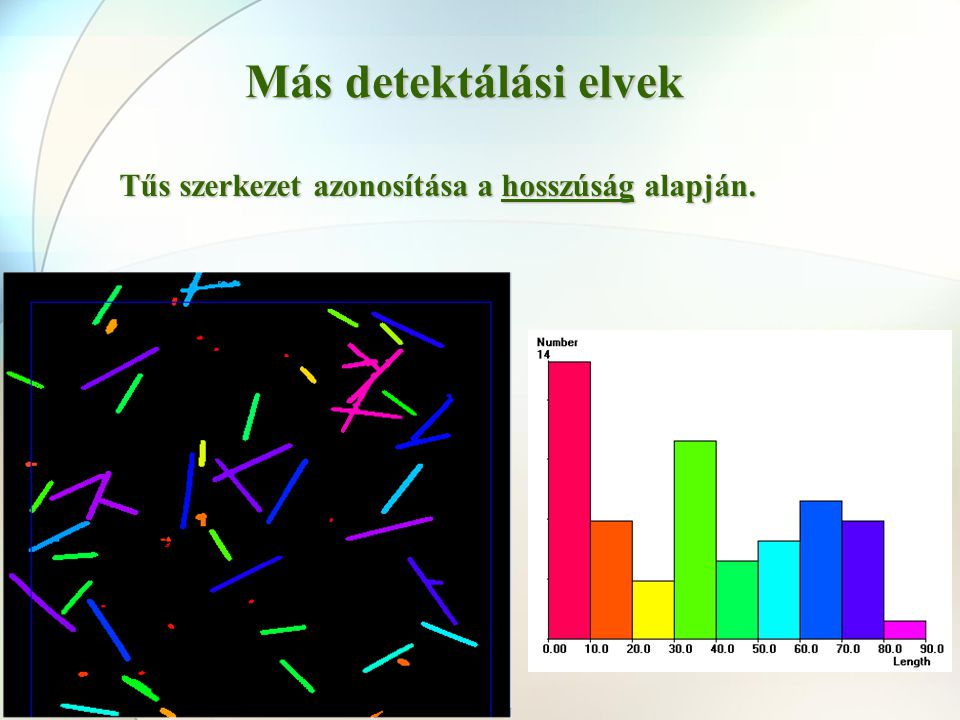 Más detektálási elvek Tűs szerkezet azonosítása a hosszúság alapján.