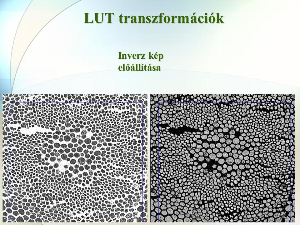 LUT transzformációk Inverz kép előállítása