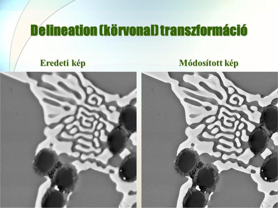 Delineation (körvonal) transzformáció Eredeti kép Módosított kép