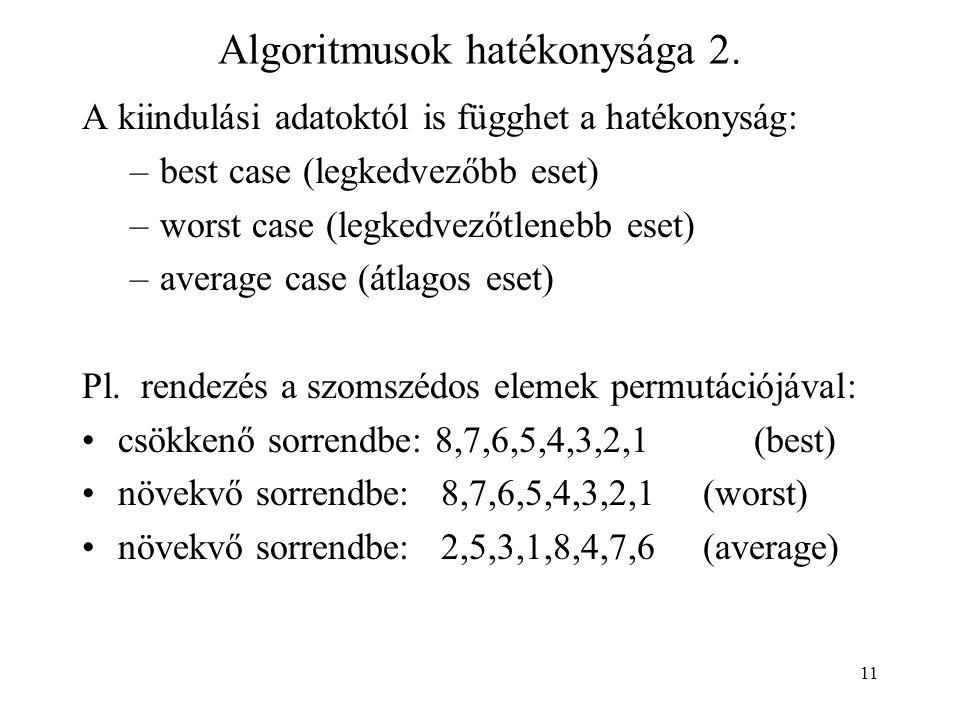 11 Algoritmusok hatékonysága 2.