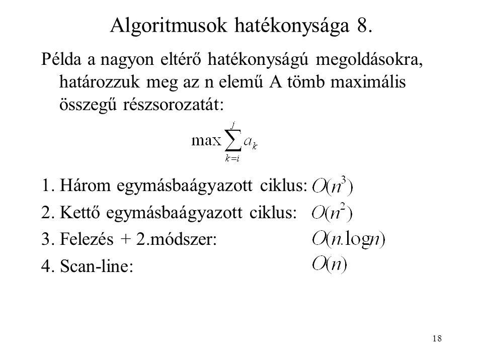18 Algoritmusok hatékonysága 8.