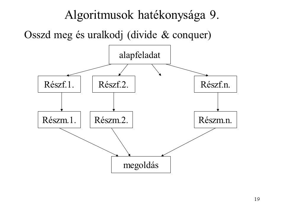19 Algoritmusok hatékonysága 9.