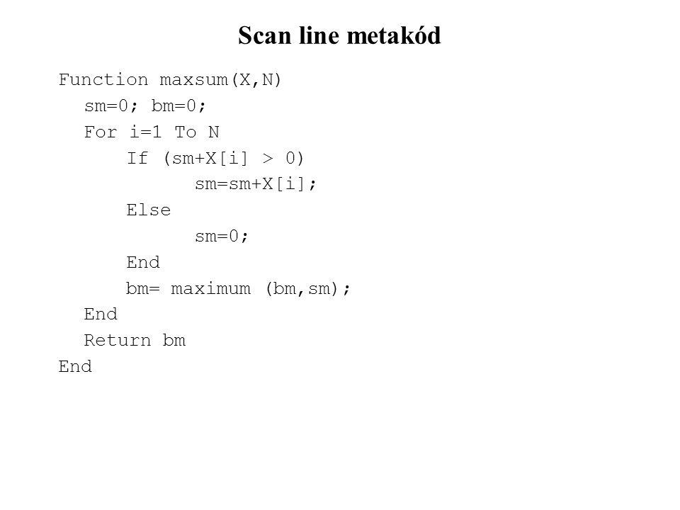 Beszúrás láncolt listába FUNCTION beszuras_ll(KP, E, I) p = KP FOR j = 1 TO I – 1 p = p → mutato END n = alloc(){hiba ellenőrzés!} n → kulcs = E n → mutato = p → mutato p → mutato = n END Hatékonysága: O(N) Kétszeresen láncolt listánál O(1), ha megadjuk az új elem pozicióját.