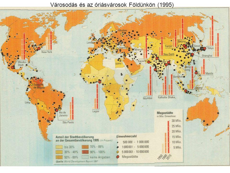Konurbáció (városösszenövés): Nagyvárosi agglomerációk egymás felé történő növekedése és terjeszkedése, amely révén nagy népességtömörülések, óriásvárosok (mega-city) és városövezetek (megalopolisz) alakulhatnak ki.