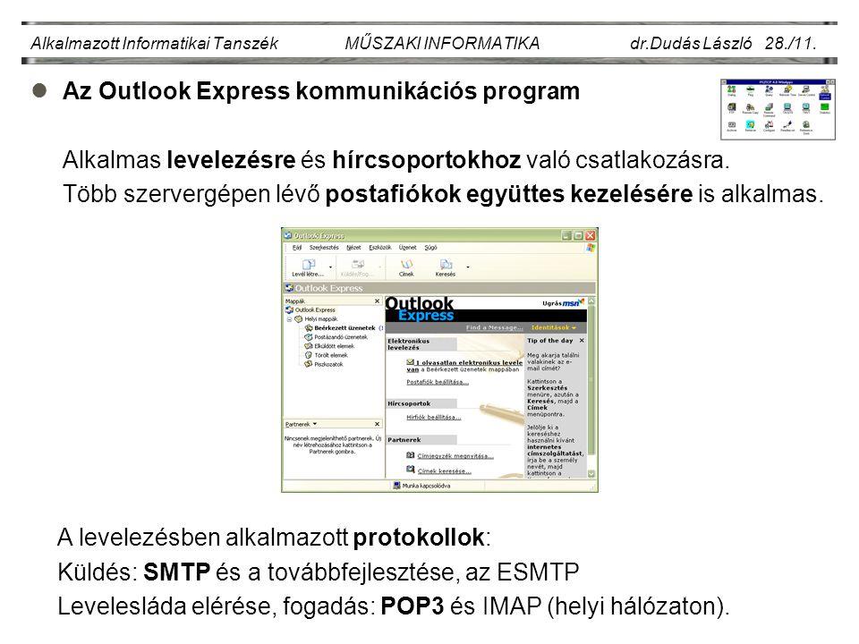Alkalmazott Informatikai Tanszék MŰSZAKI INFORMATIKA dr.Dudás László 28./11.
