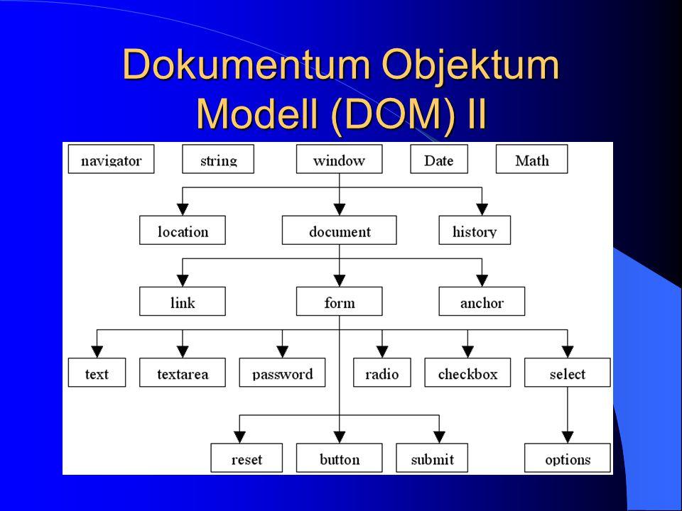 Dokumentum Objektum Modell (DOM) II
