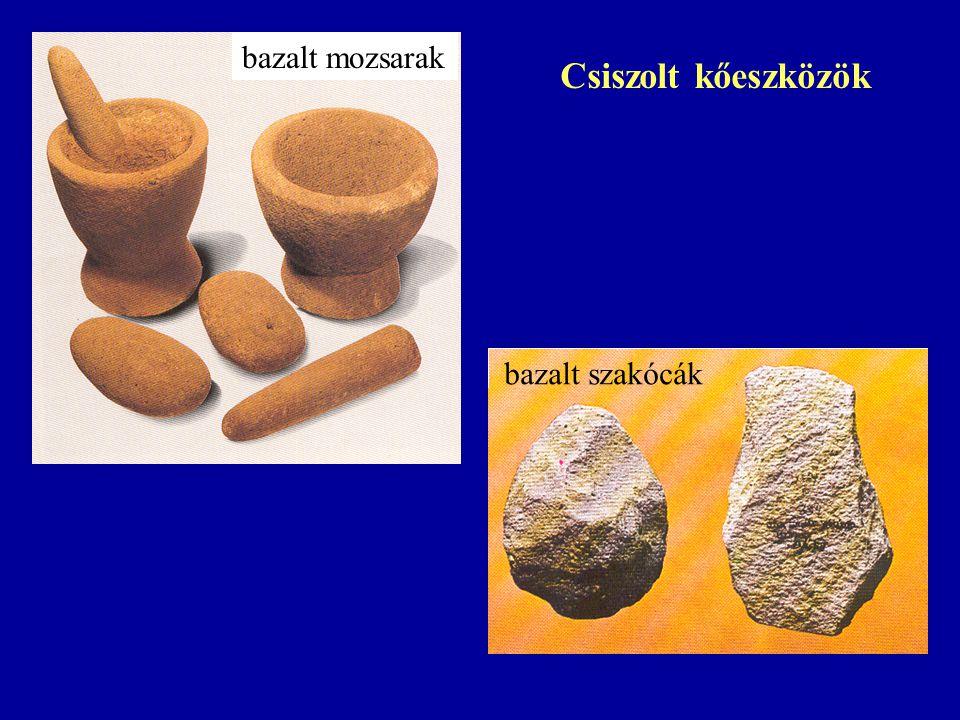 bazalt mozsarak bazalt szakócák Csiszolt kőeszközök