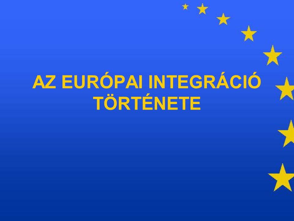 EURATOM EURÓPAI ATOMENERGIA KÖZÖSSÉG Cél: az atomenergia békés felhasználása ill.