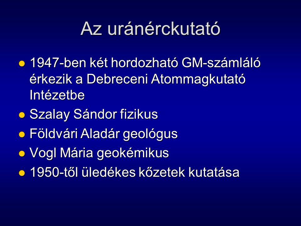 Az uránérckutató 1947-ben két hordozható GM-számláló érkezik a Debreceni Atommagkutató Intézetbe 1947-ben két hordozható GM-számláló érkezik a Debrece