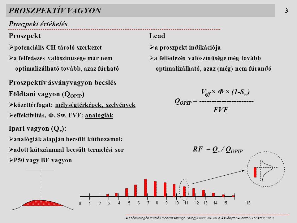 PROSZPEKTÍV VAGYON Proszpekt értékelés 3 A szénhidrogén kutatás menedzsmentje.