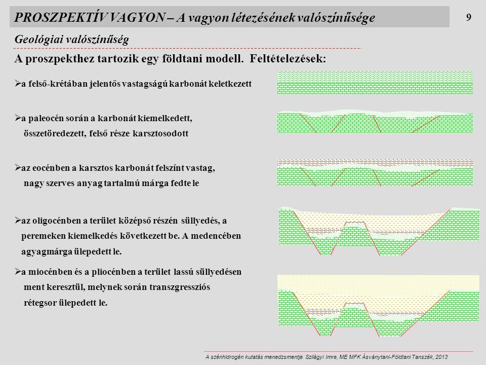 Geológiai valószínűség 9 A szénhidrogén kutatás menedzsmentje.