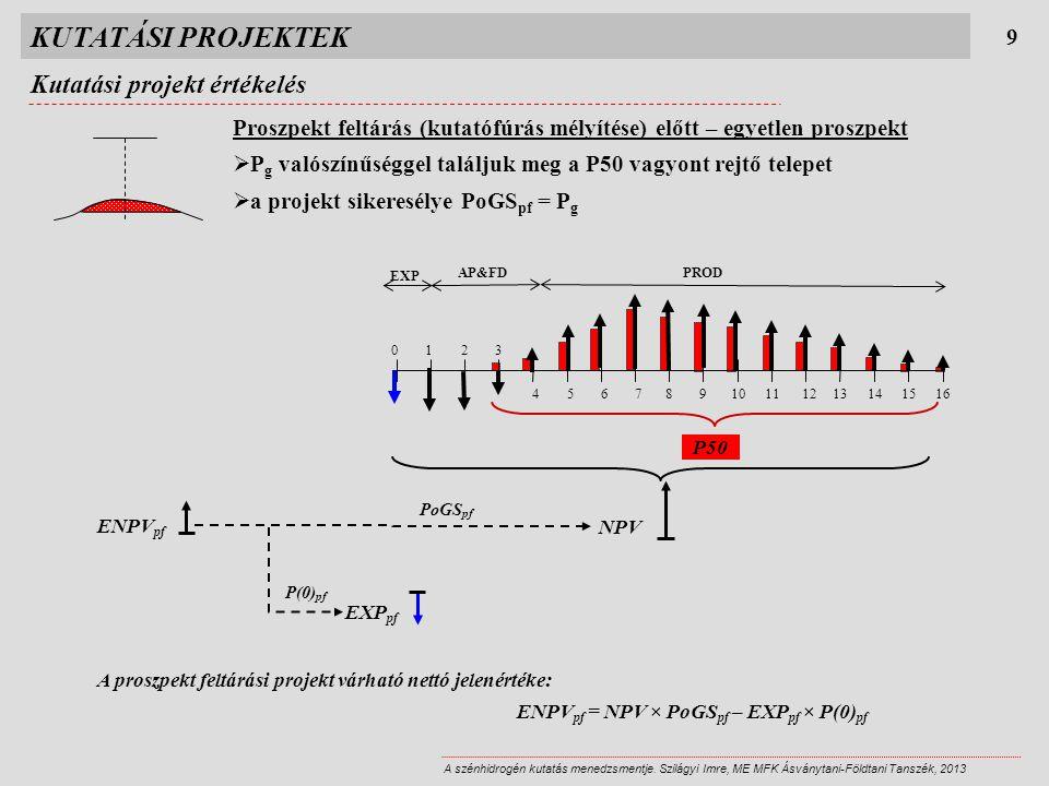 P50 KUTATÁSI PROJEKTEK Kutatási projekt értékelés 9 A szénhidrogén kutatás menedzsmentje.