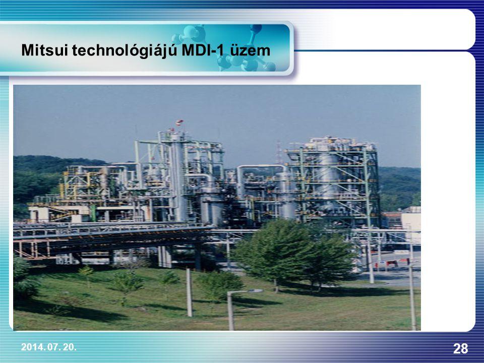 2014. 07. 20. 28 Mitsui technológiájú MDI-1 üzem