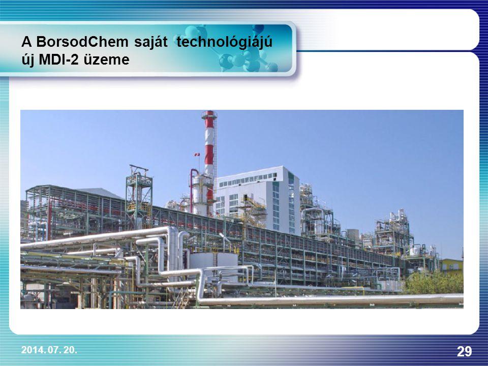 2014. 07. 20. 29 A BorsodChem saját technológiájú új MDI-2 üzeme
