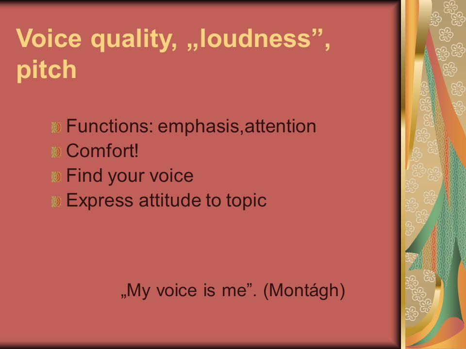 """Common problems of rythm and voice quality """"Dynamic monotony """"Singing speech Lack of emphasis Changing meaning by breaking the sentence at wrong points """"A királynőt megölni nem kell félnetek jó lesz ha mindnyájan beleegyeztek én nem ellenzem."""
