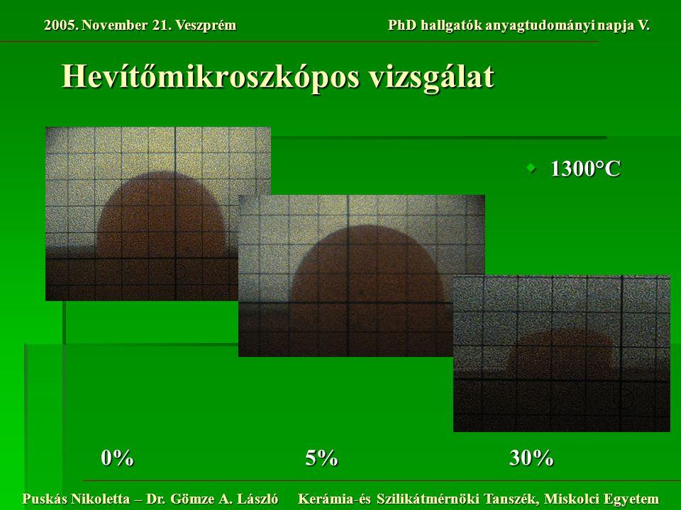 2005.November 21. Veszprém PhD hallgatók anyagtudományi napja V.