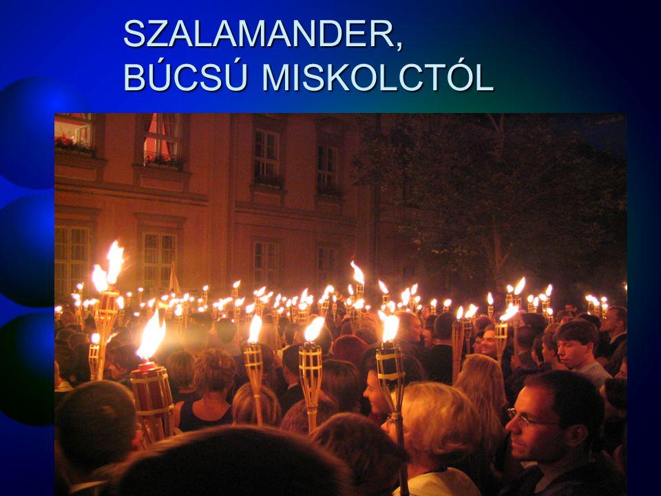 SZALAMANDER, BÚCSÚ MISKOLCTÓL