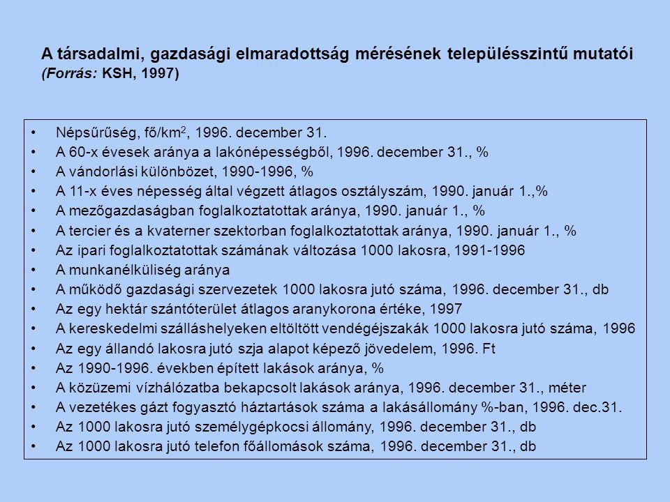 4. Gazdasági mutatók Gazdasági szervezetek 1000 lakosra jutó száma, 1995. december 31. (egyéni nélkül) Gazdasági szervezetek (egyéni vállalkozásokkal