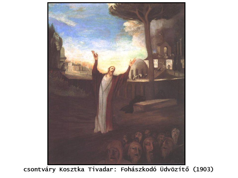 csontváry Kosztka Tivadar: Fohászkodó Üdvözítő (1903) kép