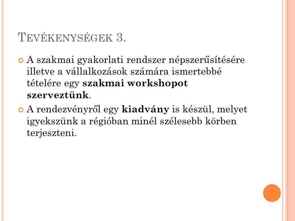 T EVÉKENYSÉGEK 3.