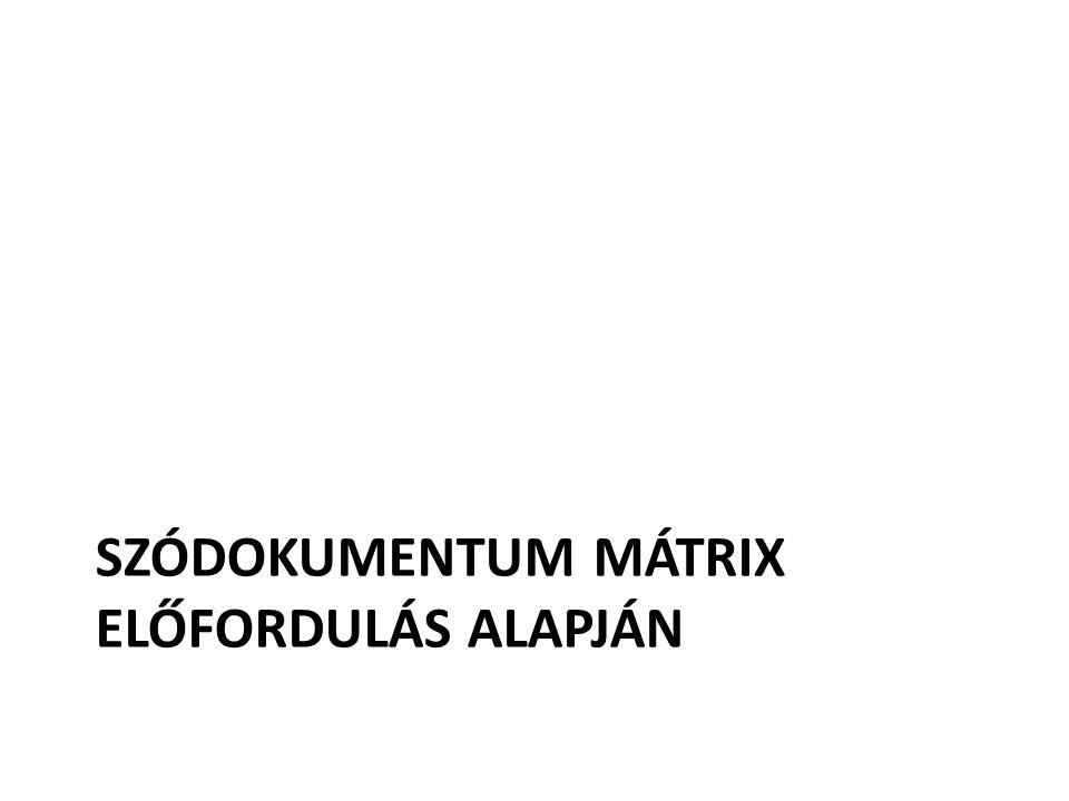 SZÓDOKUMENTUM MÁTRIX ELŐFORDULÁS ALAPJÁN