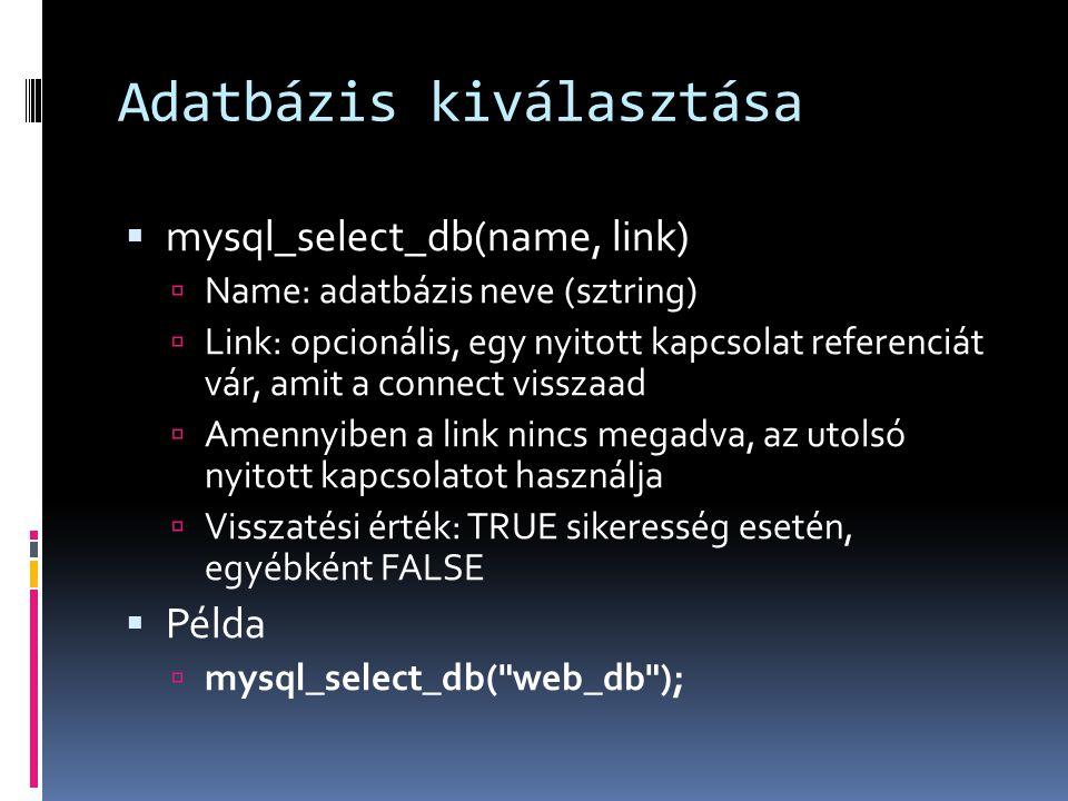 Dbase-php – VI.