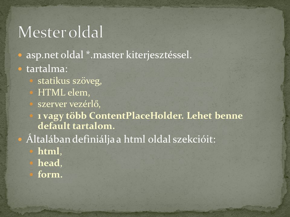 Master page title