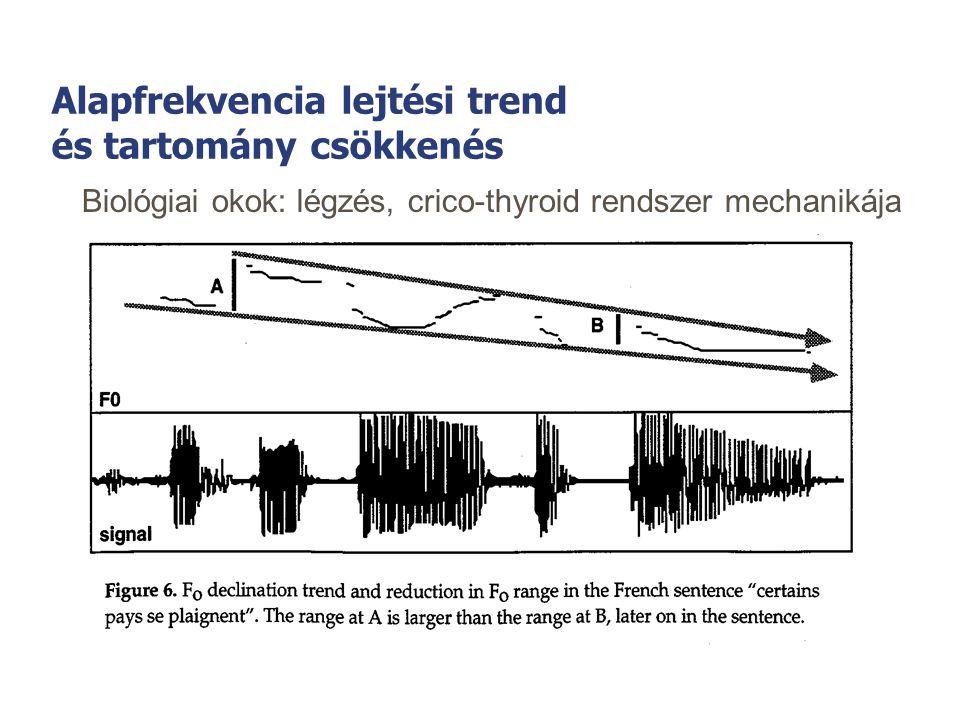 Nyelvfüggőség - nyelvfüggetlenség A beszéd prozódikus jelenségei nyelvről nyelvre másképp viselkednek, de vannak nyelvcsaládon belül, vagy néhány nyel