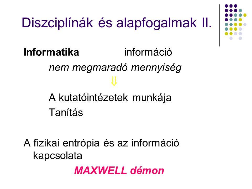 Diszciplínák és alapfogalmak II.
