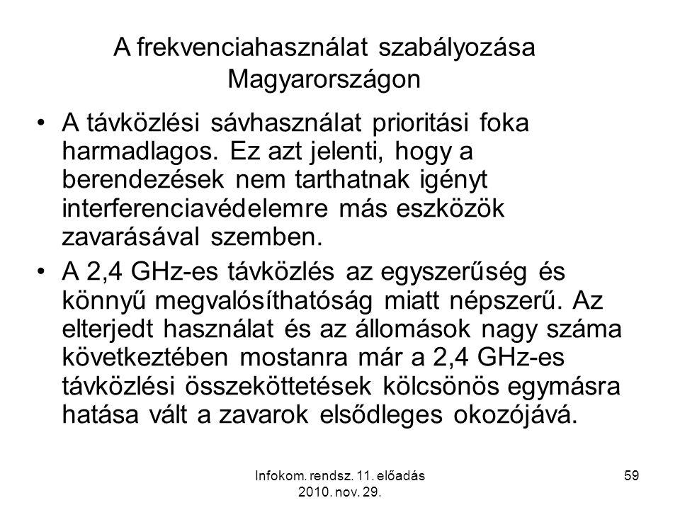 Infokom. rendsz. 11. előadás 2010. nov. 29.