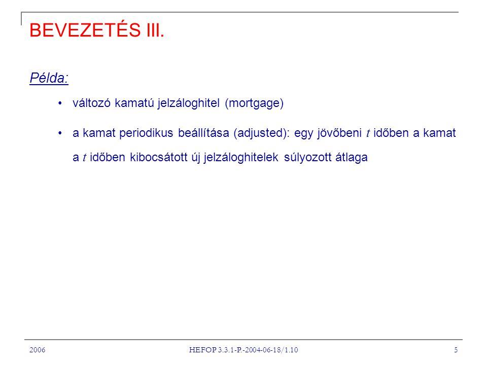 2006 HEFOP 3.3.1-P.-2004-06-18/1.10 16 TARTÁSI KÖLTSÉG I.