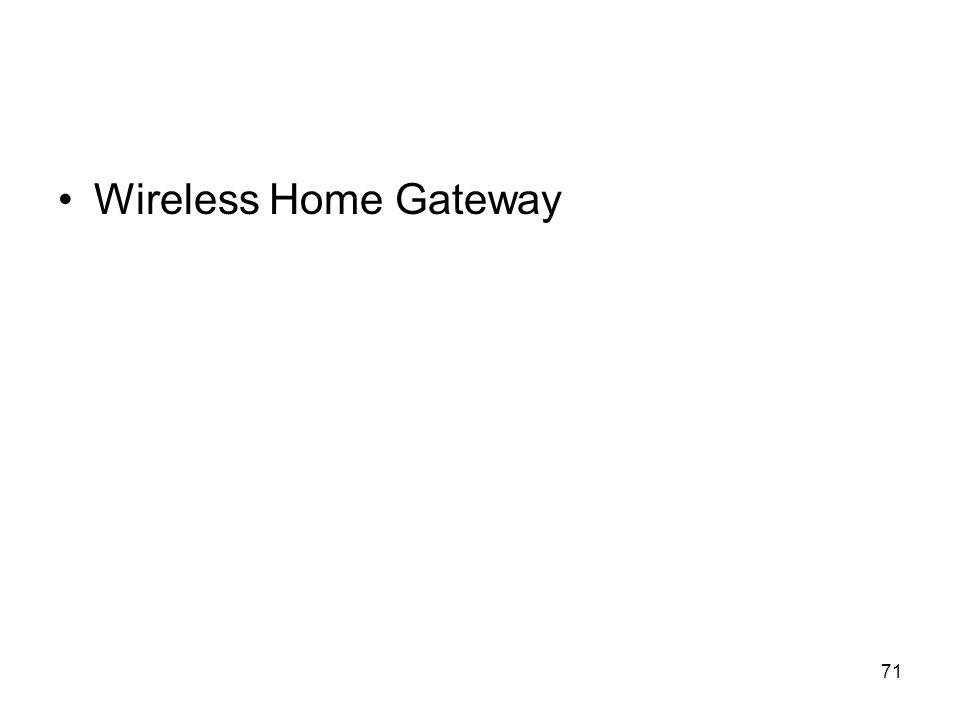 71 Wireless Home Gateway