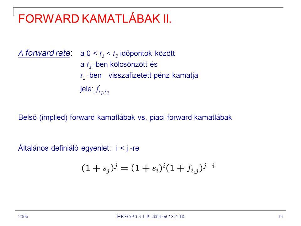 2006 HEFOP 3.3.1-P.-2004-06-18/1.10 14 FORWARD KAMATLÁBAK II.