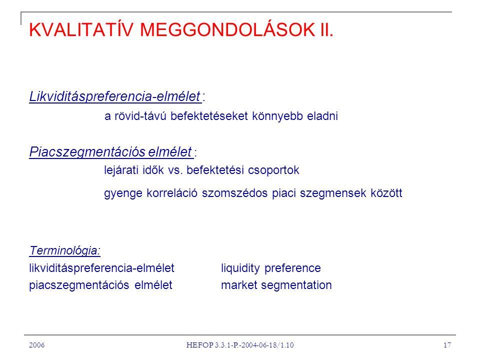2006 HEFOP 3.3.1-P.-2004-06-18/1.10 17 KVALITATÍV MEGGONDOLÁSOK II.