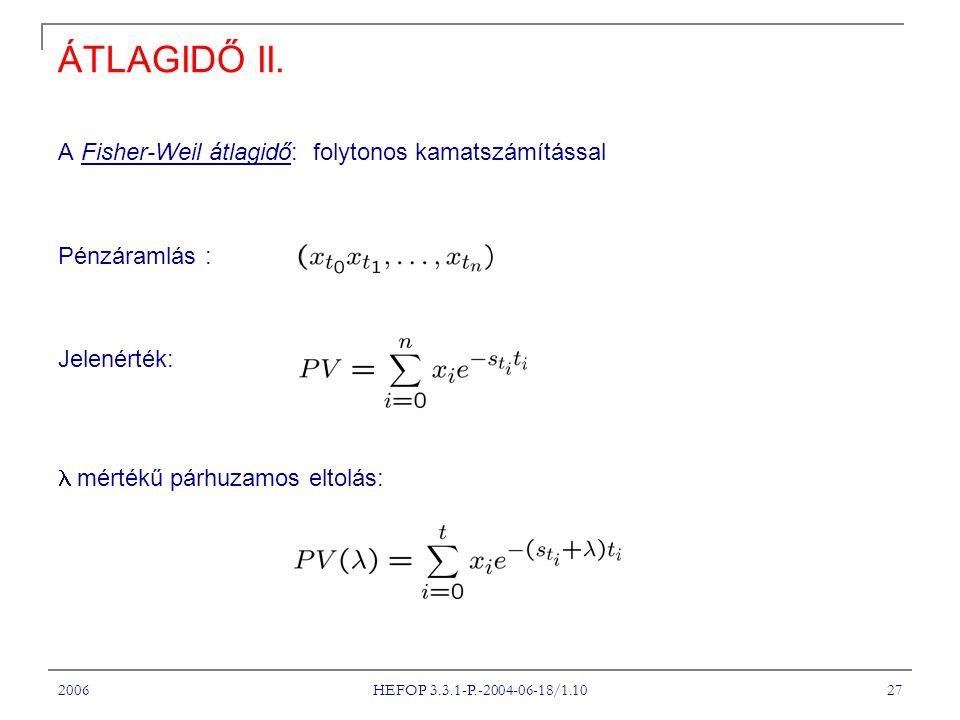 2006 HEFOP 3.3.1-P.-2004-06-18/1.10 27 ÁTLAGIDŐ II.